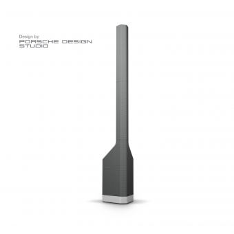 LD Systems MAUI P900 G - Powered Column PA System by Porsche Design Studio in Platinum Grey