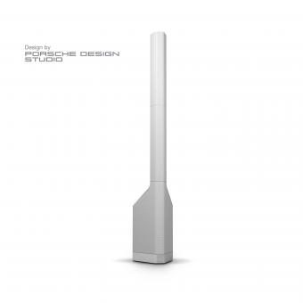 LD Systems MAUI P900 W - Powered Column PA System by Porsche Design Studio in Cocoon White