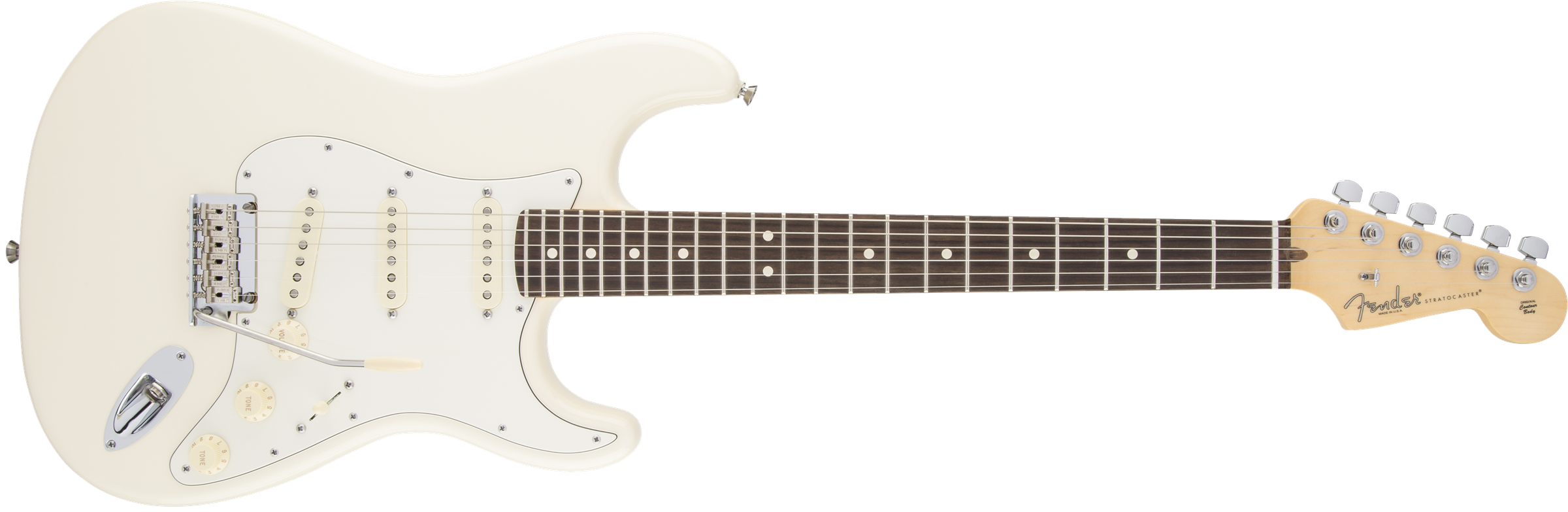 Fender American Standard Stratocaster, Olympic White, Rosewood Фото