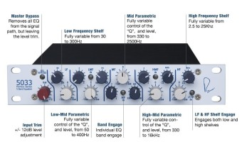 Rupert Neve Designs 5033-H Five Band EQ (horizontal)